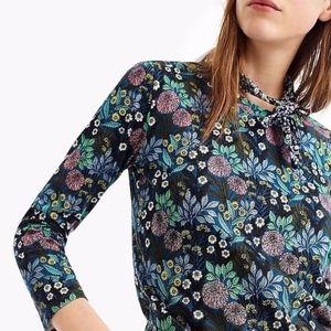 j. crew | abigail borg 3/4 sleeve floral t-shirt